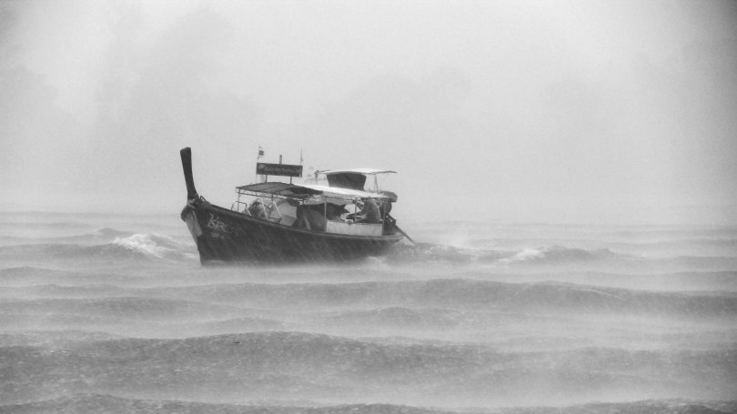 image of a boat in a storm